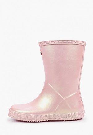 Резиновые сапоги Hunter. Цвет: розовый