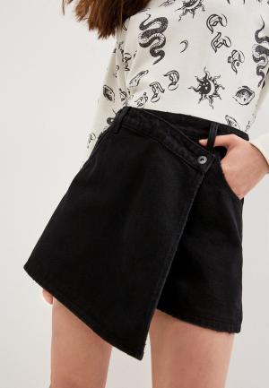 Шорты джинсовые Befree. Цвет: черный