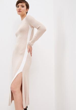 Платье Zarina. Цвет: бежевый