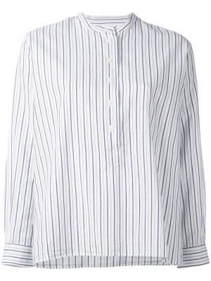 Полосатая блузка без воротника Margaret Howell. Цвет: белый