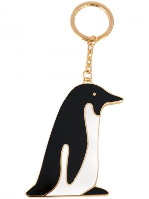 Брелок с подвеской-пингвином Thom Browne. Цвет: чёрный