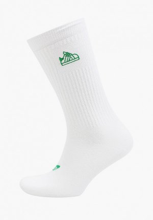 Носки adidas Originals. Цвет: белый