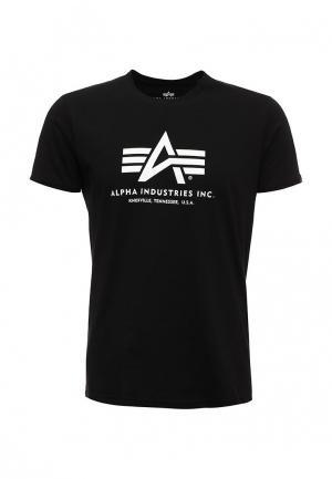 Футболка Alpha Industries. Цвет: черный