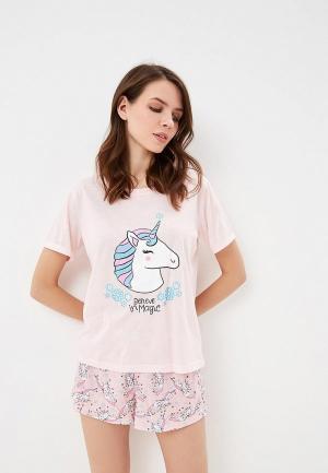 Пижама Befree. Цвет: розовый