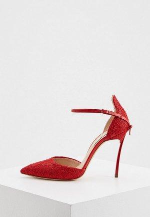 Туфли Casadei. Цвет: красный
