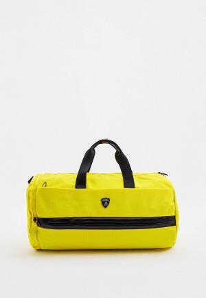 Сумка спортивная Automobili Lamborghini. Цвет: желтый