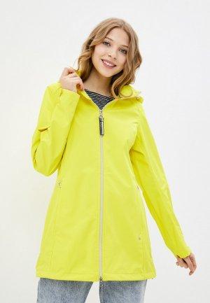 Куртка Luhta. Цвет: желтый