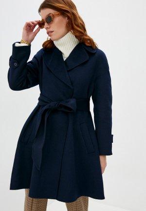 Пальто Twinset Milano. Цвет: синий