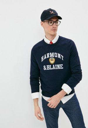 Свитшот Harmont & Blaine. Цвет: синий