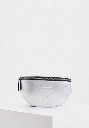 Сумка поясная Karl Lagerfeld. Цвет: серебряный