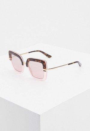 Очки солнцезащитные Dolce&Gabbana. Цвет: розовый