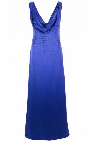 Платье FRANCESCA PICCINI. Цвет: темно-синий