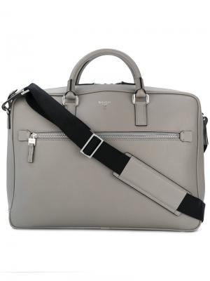 Большая сумка для ноутбука Serapian. Цвет: серый