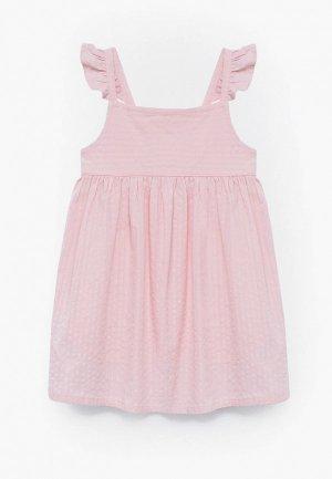 Сарафан Mango Kids. Цвет: розовый