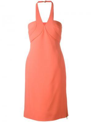 Платье с V-образным вырезом Antonio Berardi. Цвет: жёлтый и оранжевый
