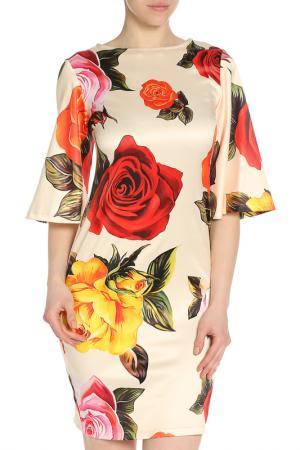 Платье ADZHEDO. Цвет: светлый бежевый