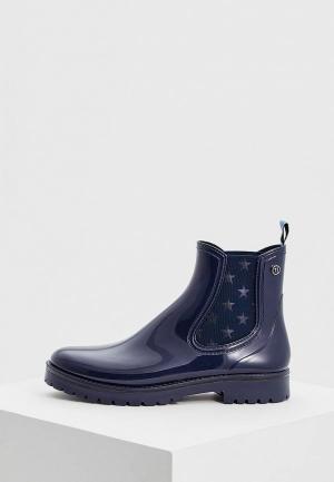 Резиновые ботинки Trussardi Jeans. Цвет: синий