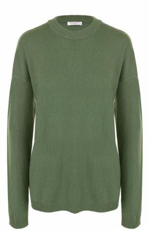 Кашемировый пуловер с круглым вырезом Equipment. Цвет: хаки