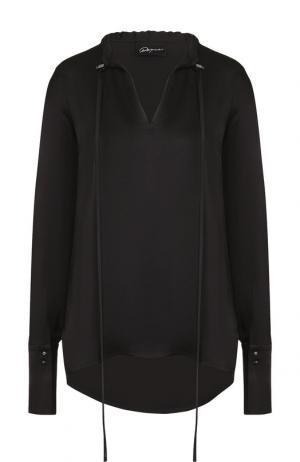 Однотонная блуза свободного кроя Roque. Цвет: черный