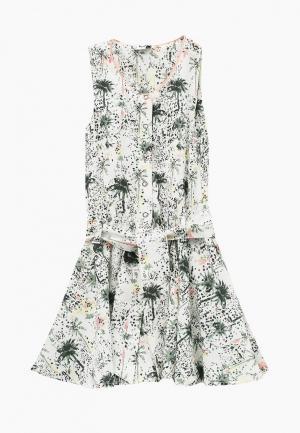 Платье 3 Pommes. Цвет: зеленый