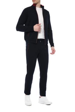 Костюм: жакет, брюки BUGATTI. Цвет: темно-синий