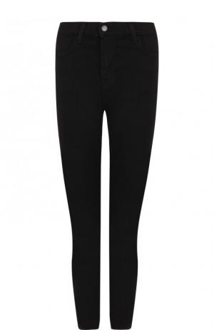 Однотонные укороченные джинсы-скинни J Brand. Цвет: черный