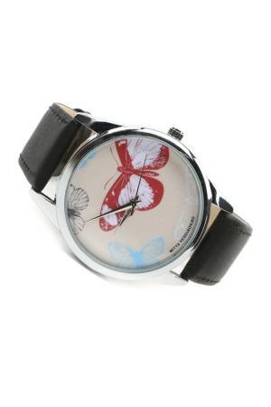 Часы Цветные бабочки MITYA VESELKOV. Цвет: молочный