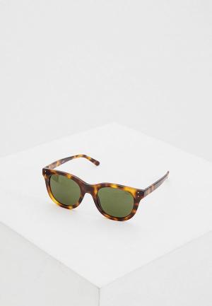 Очки солнцезащитные Polo Ralph Lauren. Цвет: коричневый