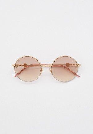 Очки солнцезащитные Elie Saab. Цвет: золотой