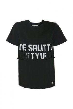 Футболка De Salitto. Цвет: черный