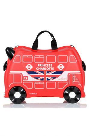 Чемодан на колесиках Автобус TRUNKI. Цвет: красный