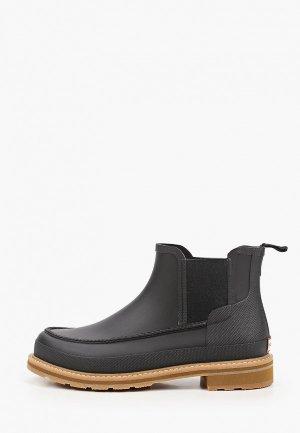 Резиновые ботинки Hunter. Цвет: черный