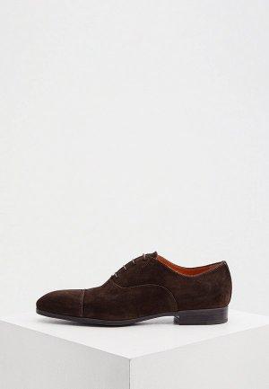 Туфли Santoni. Цвет: коричневый
