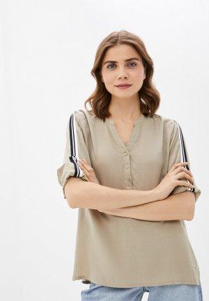 Блуза Luhta. Цвет: бежевый