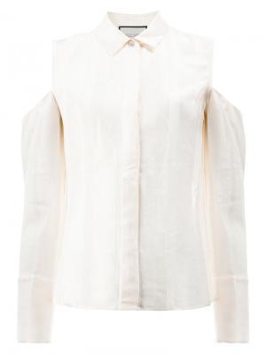 Рубашка с вырезами на плечах Alexis. Цвет: белый