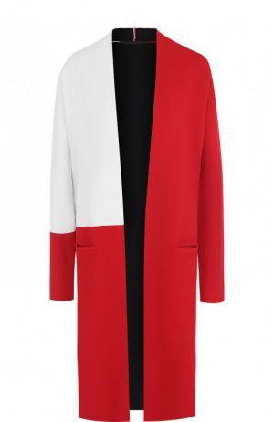 Пальто из вискозы с карманами Haider Ackermann. Цвет: красный
