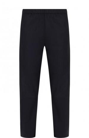 Укороченные кожаные брюки прямого кроя DROMe. Цвет: темно-синий