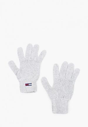 Перчатки Tommy Jeans. Цвет: серый