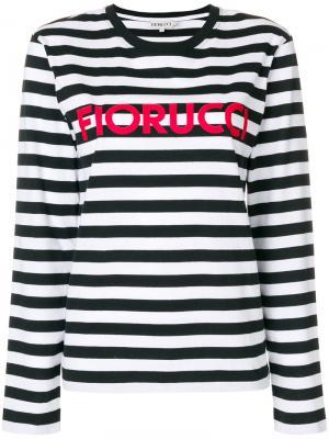 Топ в полоску с логотипом Fiorucci. Цвет: чёрный