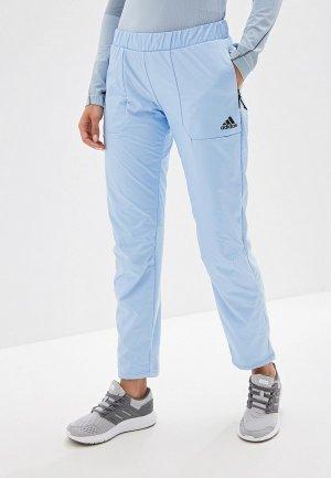 Брюки утепленные adidas. Цвет: голубой