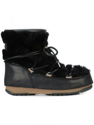 Низкие сапоги с отделкой овчиной Moon Boot. Цвет: чёрный