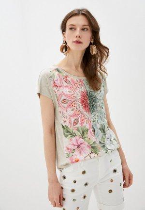 Блуза Desigual. Цвет: бежевый
