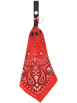 Брелок с шарфом-банданой Amiri. Цвет: красный