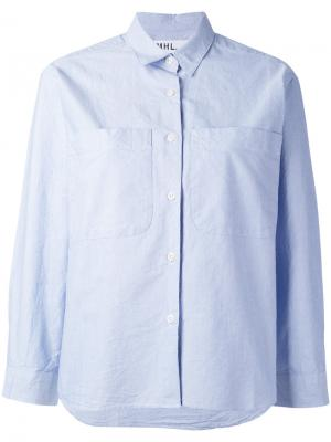 Рубашка мешковатого кроя на пуговицах Margaret Howell. Цвет: синий