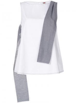 Блузка без рукавов с контрастной панелью IM Isola Marras I'M. Цвет: белый