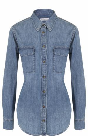 Джинсовая блуза с накладными карманами Equipment. Цвет: синий