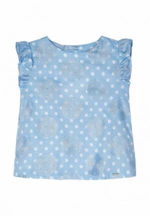 Блуза Mayoral. Цвет: голубой