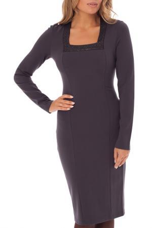 Платье Gloss. Цвет: темно-серый