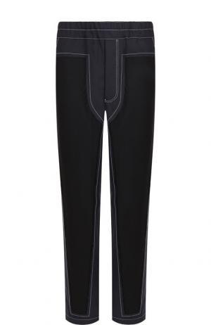 Шерстяные брюки прямого кроя Comme des Garcons. Цвет: темно-синий