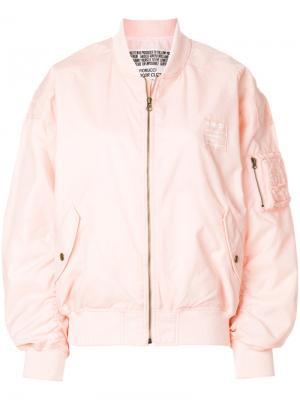 Куртка-бомбер  Lou с принтом логотипа Fiorucci. Цвет: розовый и фиолетовый